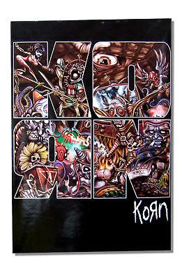 KORN - KAOS ILLUSTRATION BIG LETTER POSTER - NEW
