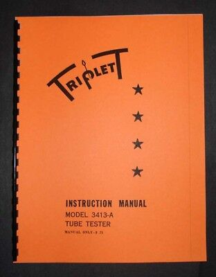 Triplett Tube Tester 3413-a Manual