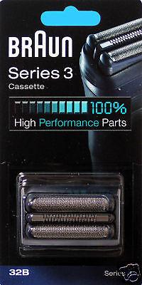 Braun Scherkopfkassette Cassette 32b Series 3 Schwarz