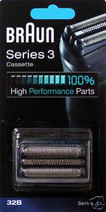 braun cassette de t te rasoir cassette 32b s ries 3 noir. Black Bedroom Furniture Sets. Home Design Ideas