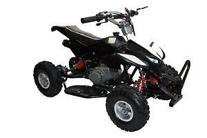 Mini-Moto-QUAD-BIKE-BLACK-49cc-rare-kids-14-2-stroke