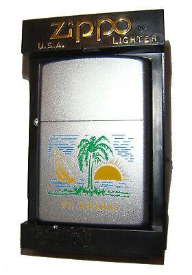 Zippo Lighter St. Thomas Virgin Islands - 2001 Edition