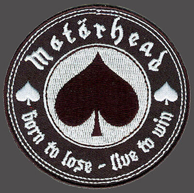 Born To Lose Live To Win Spade Motorhead Morale Hook Loop Patch