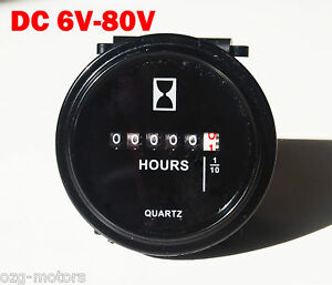 Round-Hour-meter-gauge-420-170-12-24-48-volt-John-Deere-tractor-gator-diesel-rv
