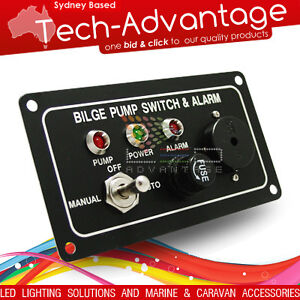 12V-AUDIBLE-ALERT-SAFETY-BILGE-CONTROL-SWITCH-PANEL