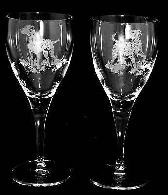 DALMATIAN GIFT - Boxed PAIR WINE GLASS *DOG GIFT*