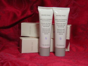 MARY-KAY-MEDIUM-COVERAGE-FOUNDATION-IVORY-204-LOT-2