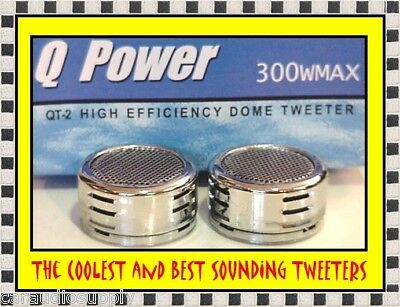 New 300 Watt Chrome Car Stereo Component Dome Tweeters Truck Audio Speakers  on Rummage