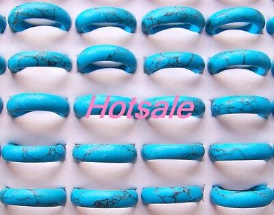 Wholesale 6p  Fashion Charm Nice Turquoise gemstone rings  on Rummage