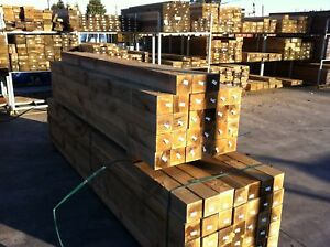 TREATED PINE H4 100x100mm PICKET FENCE  POSTS, MERBAU RED GUM HARDWOOD ALT