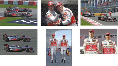 Jenson Button and Lewis Hamilton F1 POSTCARD Set