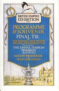 FA CUP FINAL REPRINT 1923: Bolton v West Ham United