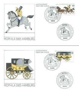 Germany 1985 FDC 1255-56b MOPHILA Pferde Horse Konie Animals Pets Tiere - Dabrowa, Polska - Germany 1985 FDC 1255-56b MOPHILA Pferde Horse Konie Animals Pets Tiere - Dabrowa, Polska