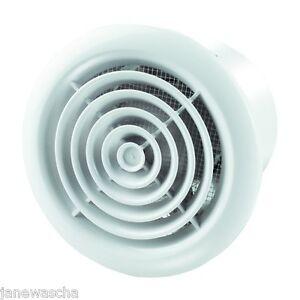 Ventilateur de salle de bain 125mm palier grille ventilation a rateur mural - Ventilateur mural salle de bain ...