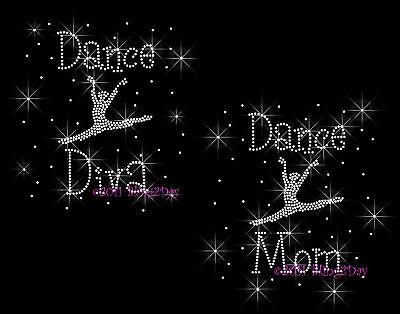 Dance Mom Dancer Rhinestone Iron On Transfer Hot Fix