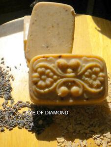 Handmade-Lavender-Goat-Oatmeal-Soap-Three-5-oz-Bars
