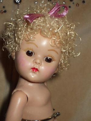 Vintage Ginny Doll Curly Poodle Wig Vanilla Color & Muffie Pam Virga Dollfie