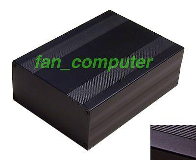Black Aluminum Project Box Enclosure Case Electronic DIY 203x144x68mm_Big