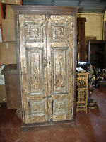 Antique armoires india furniture cabinets ebay - Cabinet made from old doors ...