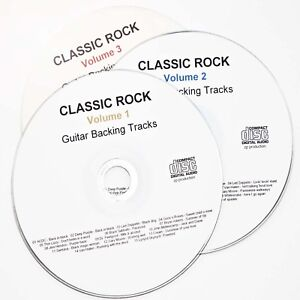 Classic Rock Guitar Backing Tracks 45 pro quality Guitar Jam Trax on 3 CD's