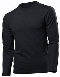 Hanes Mens 100% Cotton Long Sleeve Fitted T-Shirt Top