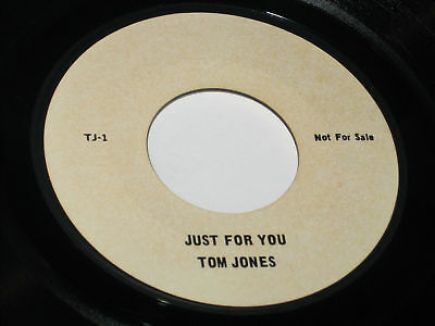 Tom Jones 45 Just For You One Sided Fan Club Promo Hear