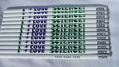 12 i Love Science Personalized Pencils