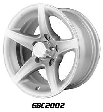 "14""X7"" 5-4.5   Aluminum Star GBC2002 Trailer Wheel"