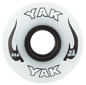 8 x YAK AGGRESSIVE 62mm x 96A  INLINE SKATE WHEELS