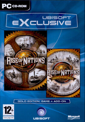 Rise Of Nations With Thrones And Patriots Gold Edition Pc Brand New Sealed