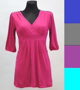 New-Ladies-V-Neck-Top-Tunic-size-M-3XL-Maternity-Tops