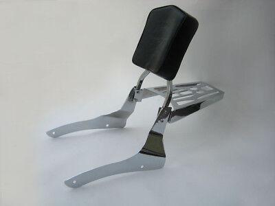 Sissy Bar Backrest Luggage 04+ Honda Shadow Aero Vt750