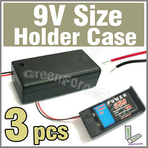 3-x-Battery-Holder-Case-box-for-1-9V-Volt-Size-battery-w-On-Off-Switch-6-Lead