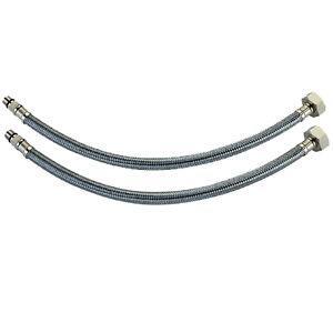 pair 10mm flexible monobloc tap connectors 600mm long ebay. Black Bedroom Furniture Sets. Home Design Ideas