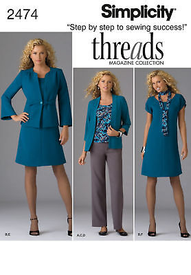 Reduced Simplicity 2474 Misses' Dress, Top, Pants, Jacket Pattern 10-18