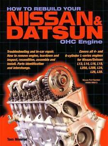 WORKSHOP REPAIR MANUAL REBUILD NISSAN DATSUN OHC ENGINE