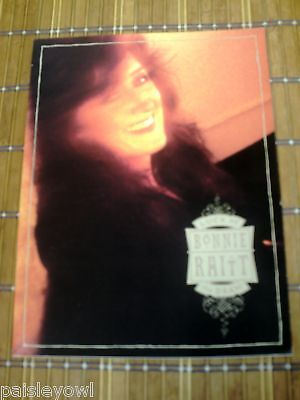 Bonnie Raitt Concert Program 1991 Luck of the Draw Tour