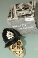 (prl) Skull Hand Painted Teschio Dipinto A Mano Police Policeman Bobby Regalo -  - ebay.it