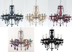 Marie-Therese-Glass-Crystal-Chandelier-Range-5-Colours-Acrylic-Arms