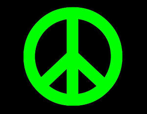 PEACE SIGN 70S WINDOW DECAL NEON VINYL STICKER 6X6 #1: $ KGrHqYOKnEE1QYZlDp BNd9K M3J 35 JPG