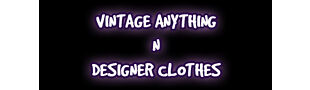 Vintage Anything N Designer Clothes