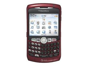 Red Unlocked Blackberry 8310 PDA Smartphone AT&T T-Mobile C Heavily Used