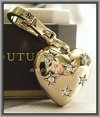 Juicy Couture 2011 Gold Puff Heart Pave Charm