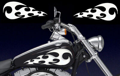 Universal Flames Gas Tank Decals Harley