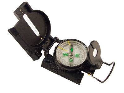Military Style Marching Compass - Black