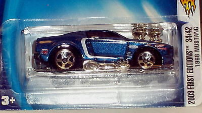 Hot Wheels Lot of 6 Muscle Cars & Bikes- Mustang Mach 1 Free Ship w/ Pro Packing
