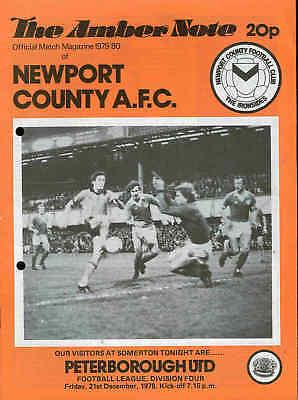 Football Programme - Newport v Peterborough Div 4 1979