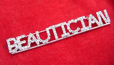 Cosmetologist Beautician Rhrinestone Pin-3 1/4 Inches