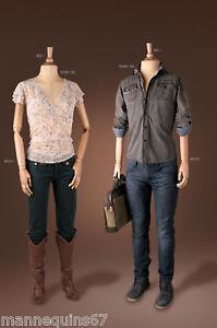 mannequin vitrine femme ou homme vintage bois decor ebay. Black Bedroom Furniture Sets. Home Design Ideas