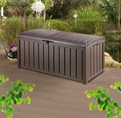 KETER GLENWOOD GARDEN STORAGE BOX HUGE 390 LTR rrp £90+